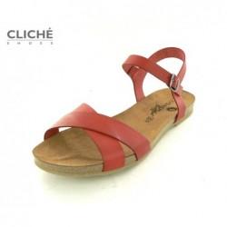 Červené sandálky Cosmos...