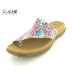 Barevné mozaikové pantofle...
