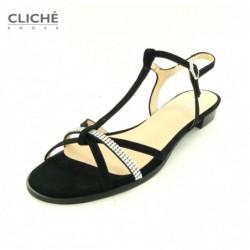 Společenské černé sandálky...