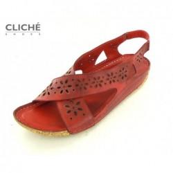 Sandále červené, 2314-507