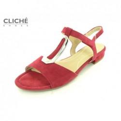 Červené sandále Ara 1216839-07
