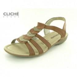 Nadměrné hnědé sandály,...