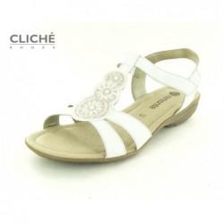 Nadměrné bílé sandály,...