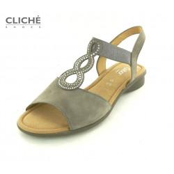 Šedo-hnědé sandálky Gabor,...