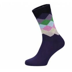 Ponožky barevné kárované...