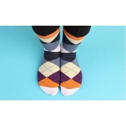 Ponožky kárované, 1 pár,...