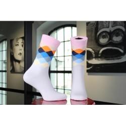 Ponožky barevné kárované, 1...