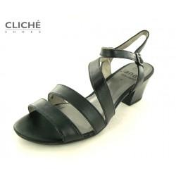 Černé nadměrné sandále na...