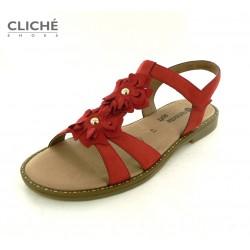 Nadměrné červené sandály,...