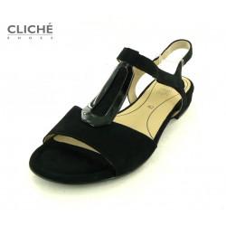 Černé semišové sandále Ara...
