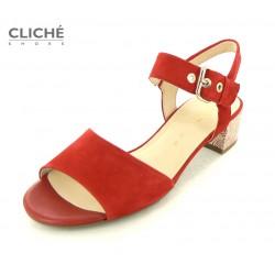 Červené sandálky Gabor,...