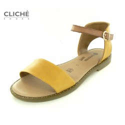 Nadměrné žluté sandály,...