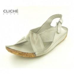 Sandále béžové, 2024-528
