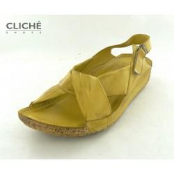 Sandále žluté, 2024-515