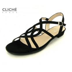 Společenské černá sandálky...