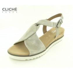 Metalické sandálky na...