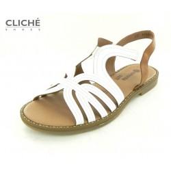 Bílo hnědé sandálky,...
