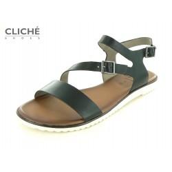 Černé nadměrné sandále,...