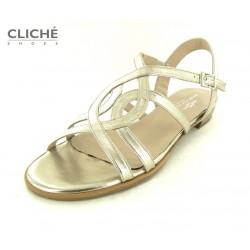 Společenské zlaté sandálky...