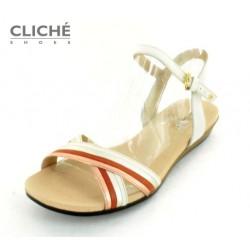 Sandálky bílá, metalická,...