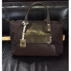 Kožená kabelka Ferchi,...