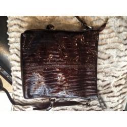 Kožená lakovaná kabelka,...