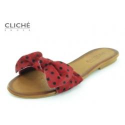 Pantoflíčky, červená...