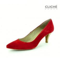 Lodičky Serraje Rojo, červená