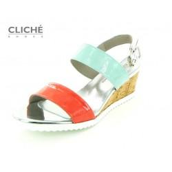 Barevné sandále na klínu,...