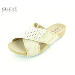 Pantofle Angie 09, zlatavé,...