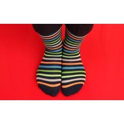 Ponožky barevné pruhované,...
